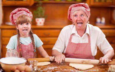 Babcia opiekunka – czystać cię nataki luksus? (pobierz kolorowankę)