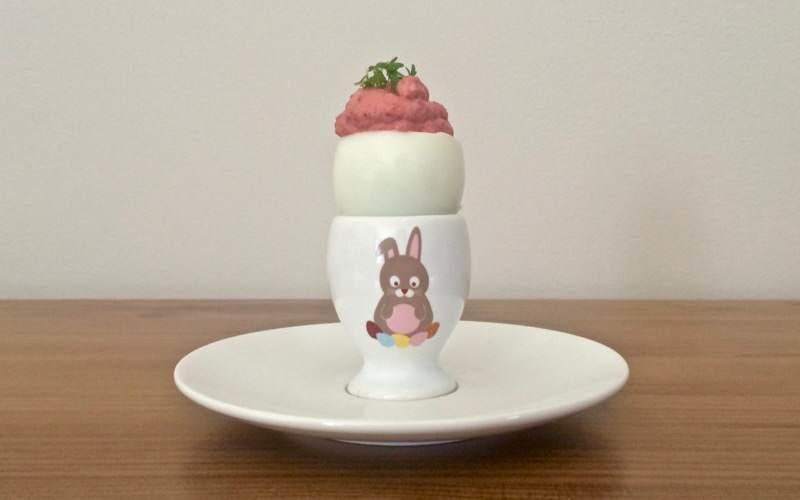 Jajka zróżowym majonezem