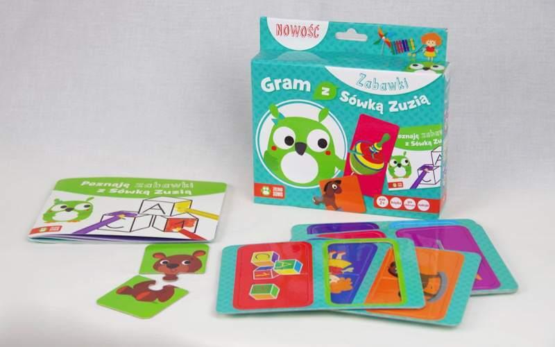 Puzzle rozwijają spostrzegawczość dwulatka. Gram zSówką Zuzią
