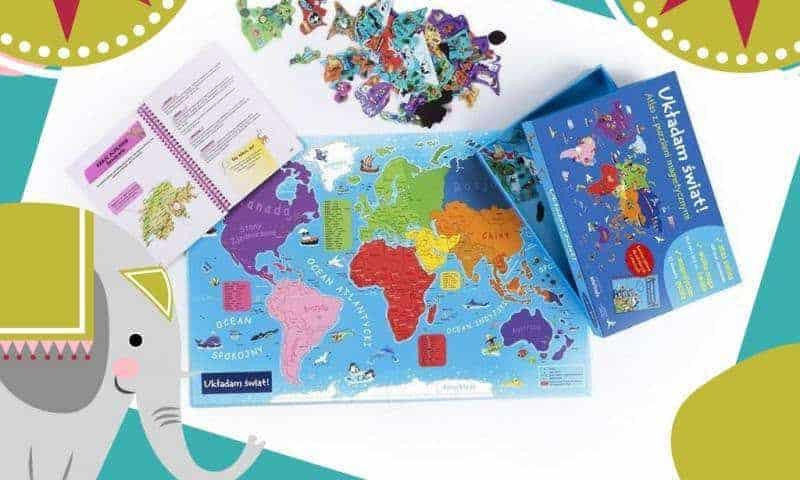 Układam świat. Atlas zpuzzlami magnetycznymi
