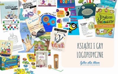 Książki, gry izabawy logopedyczne dla najmłodszych iprzedszkolaków