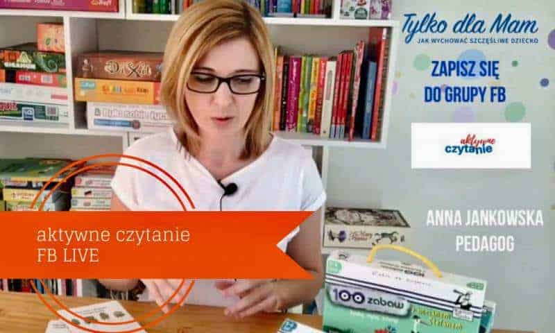 """Książkowy FB live: """"100 zabaw z…"""" ćwiczymy koncentrację"""