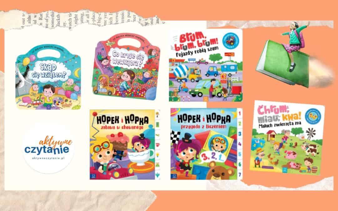 Kartonowe książki edukacyjne wydawnictwa Aksjomat