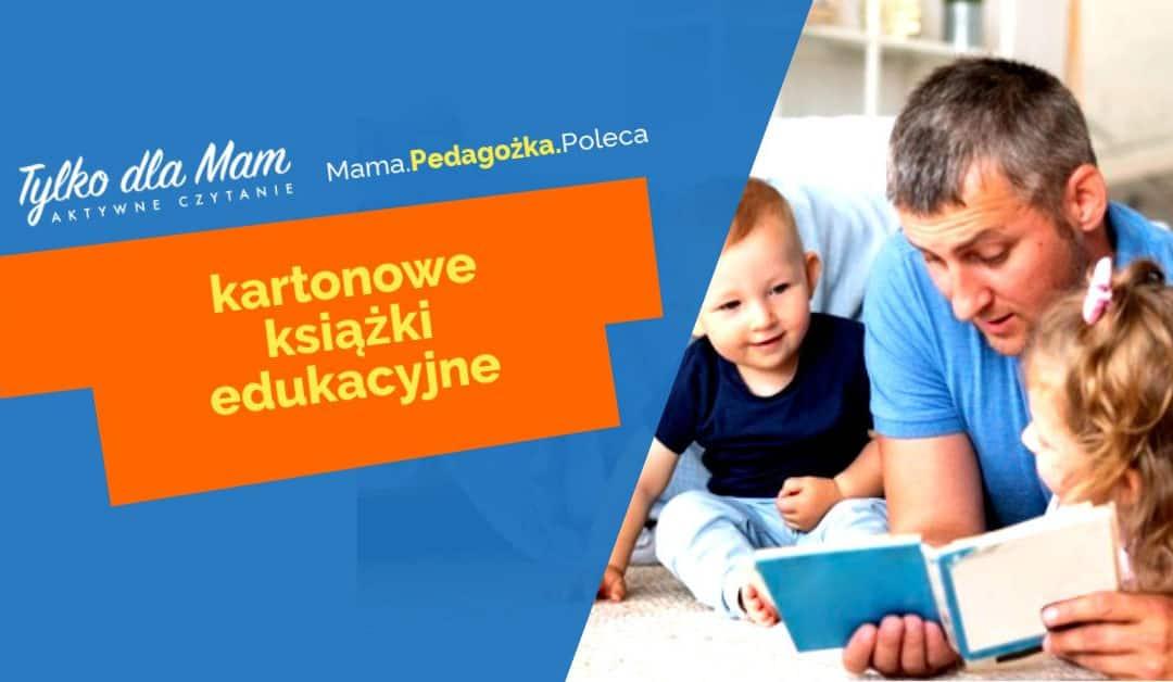 Kartonowe książki edukacyjne dla dzieci wwieku 1-3