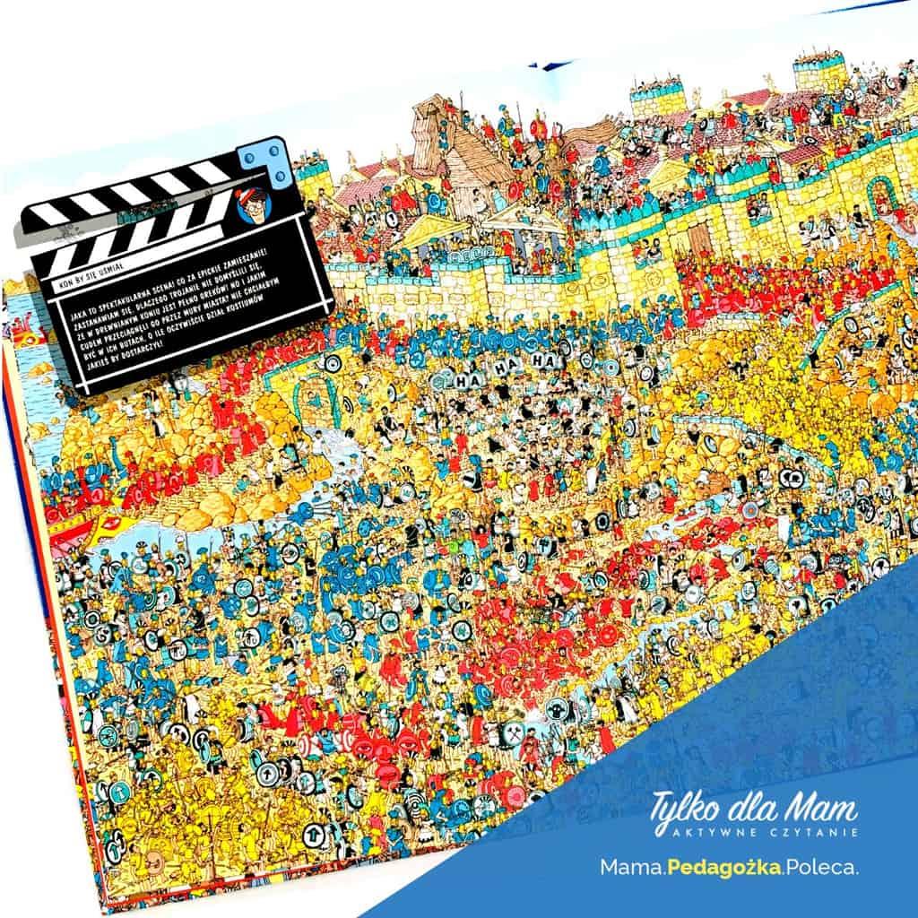 Gdzie jest Wally? WHollywood ksiązki dla dzieci książka wyszukiwanka