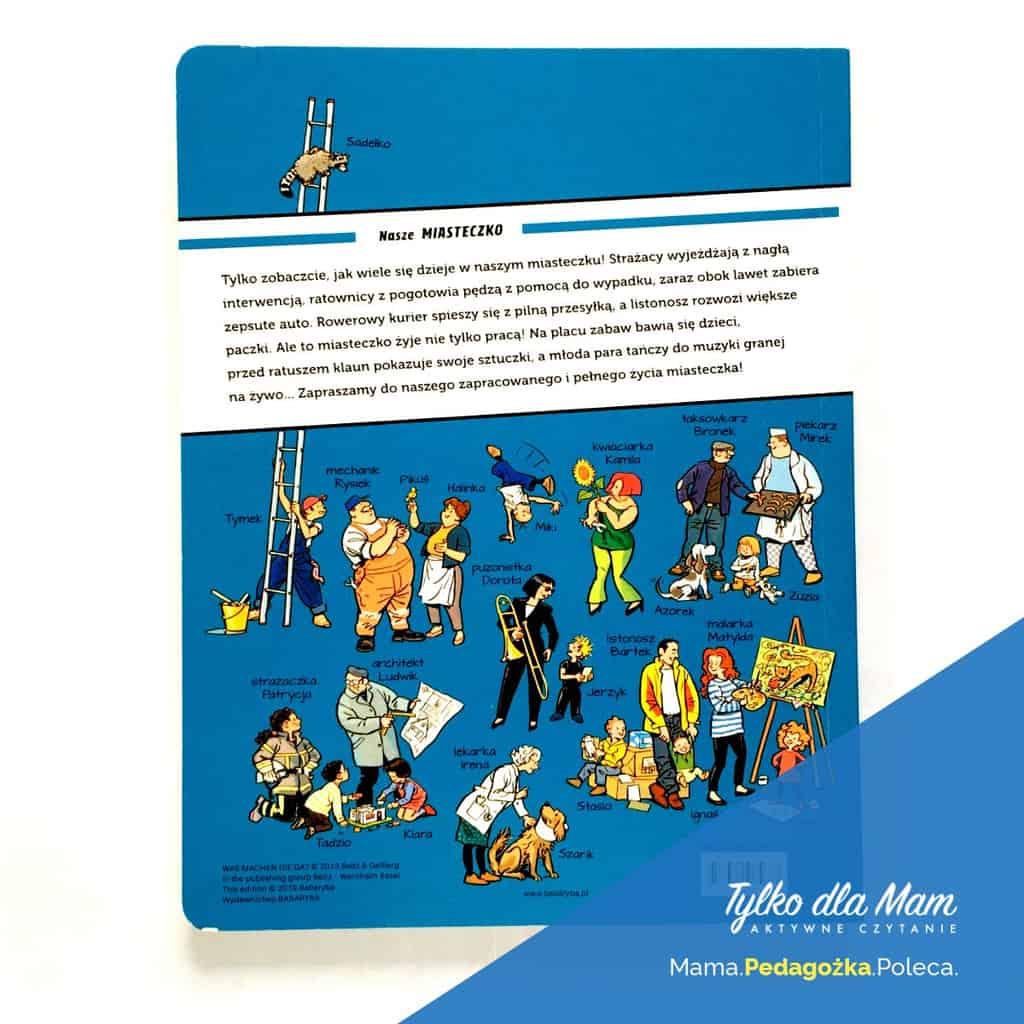 Nasze miasteczko ksiązka obrazkowa picture book silent book