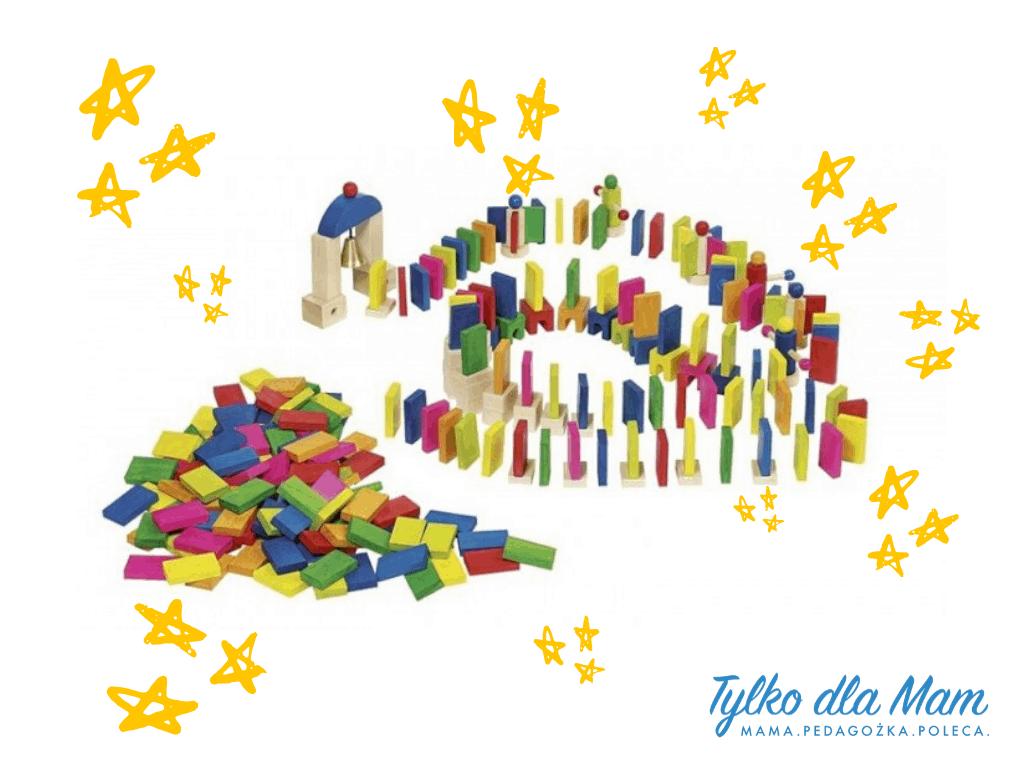 Domino drewniane, 247 elementów zakcesoriami zabawka dla 5 latka