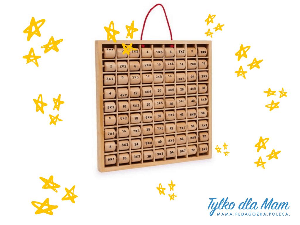 Drewniana tabliczka mnożenia zabawka dla 6 latka