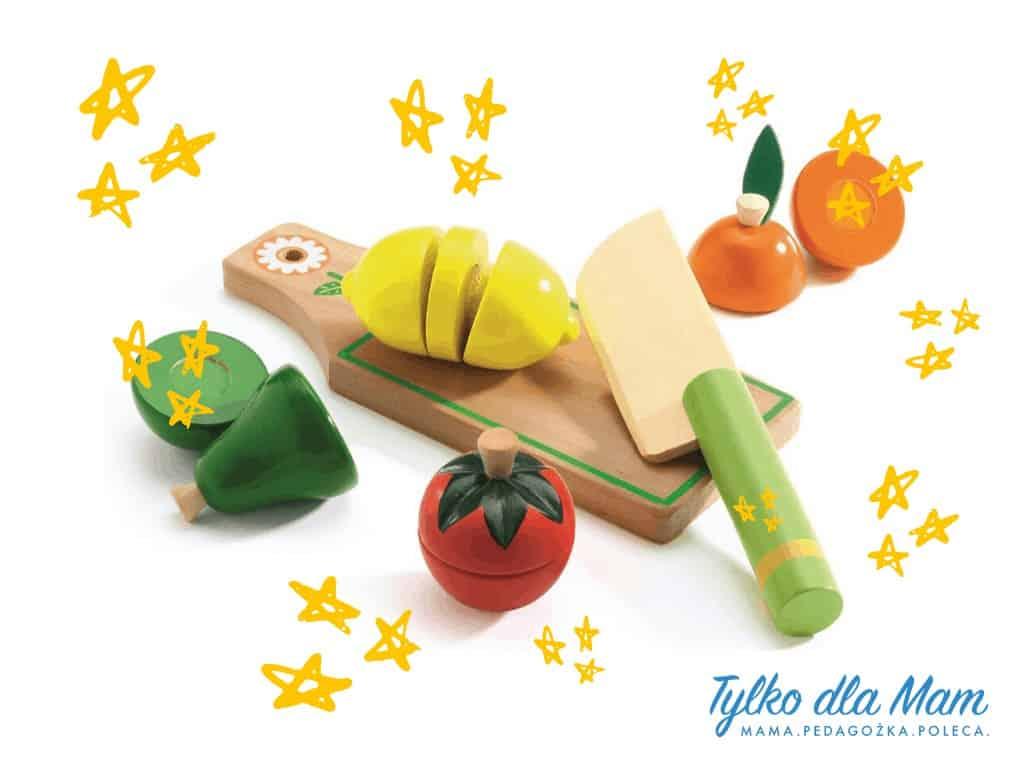 drewniane owoce dokrajania zabawka dla 2 latka