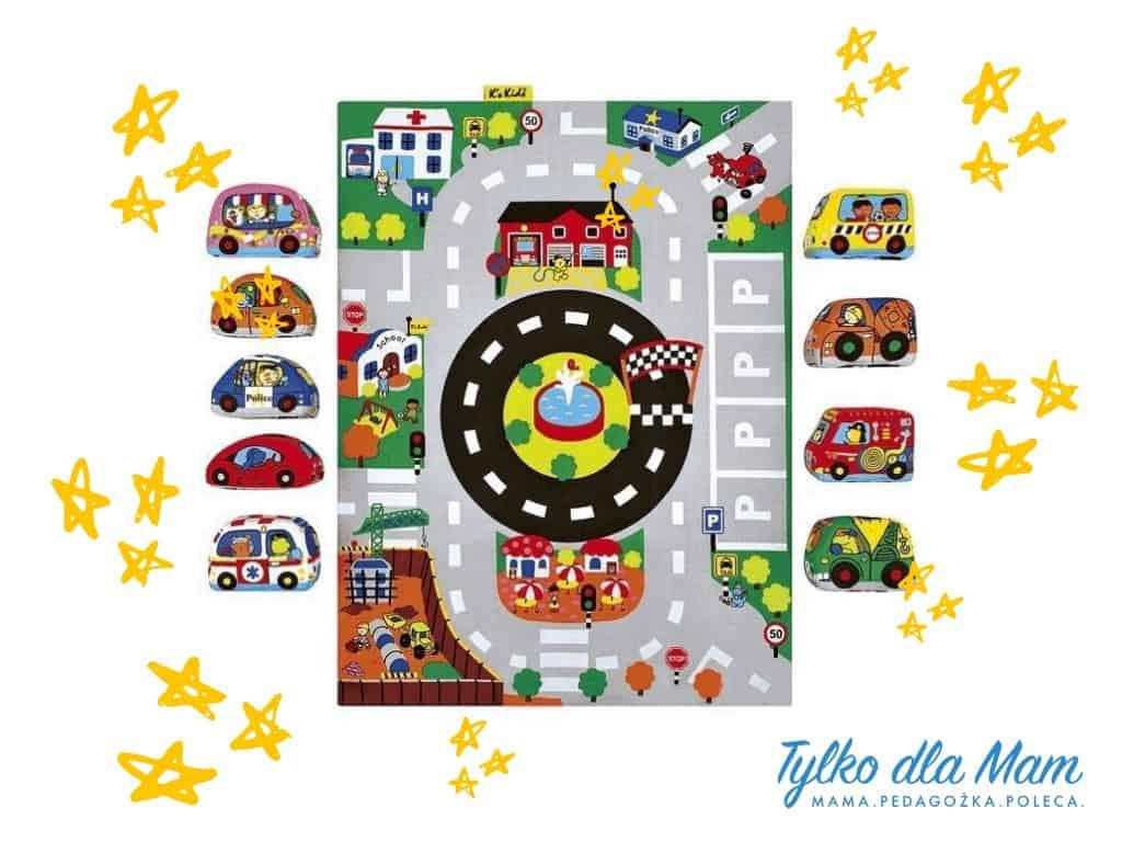 Mata zmiękkimi samochodzikami - miasto zabawki naroczek