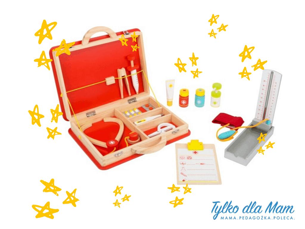 Zestaw medyczny Kuferek lekarza zabawki dla 4 latka