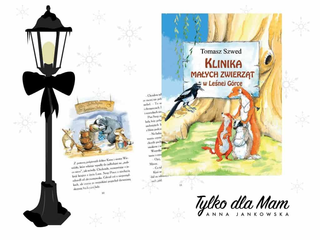 Zima wKlinice Małych Zwierząt wLeśnej Górce zwierzęta ksiązki dla dzieci
