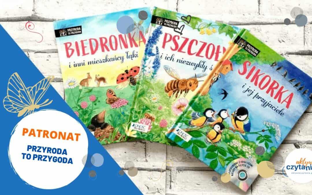 """3 książki zpłytami CD (odgłosy natury isłuchowiska). Seria """"Przyroda toprzygoda"""""""