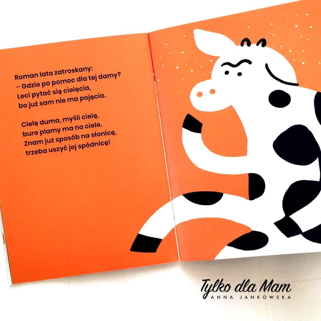krowa wiersz książka