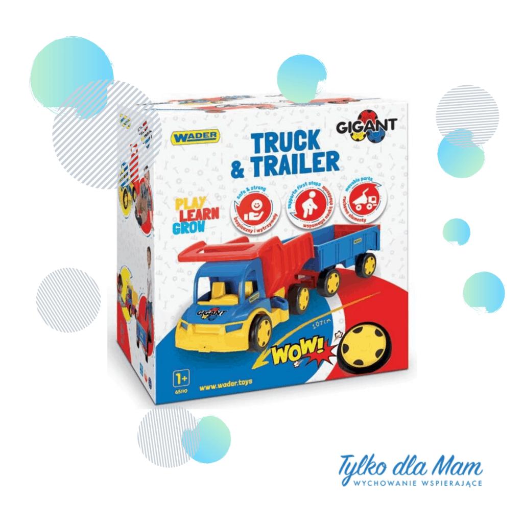 Gigant Truck Wywrotka zPrzyczepązabawki dla dzieci samochód