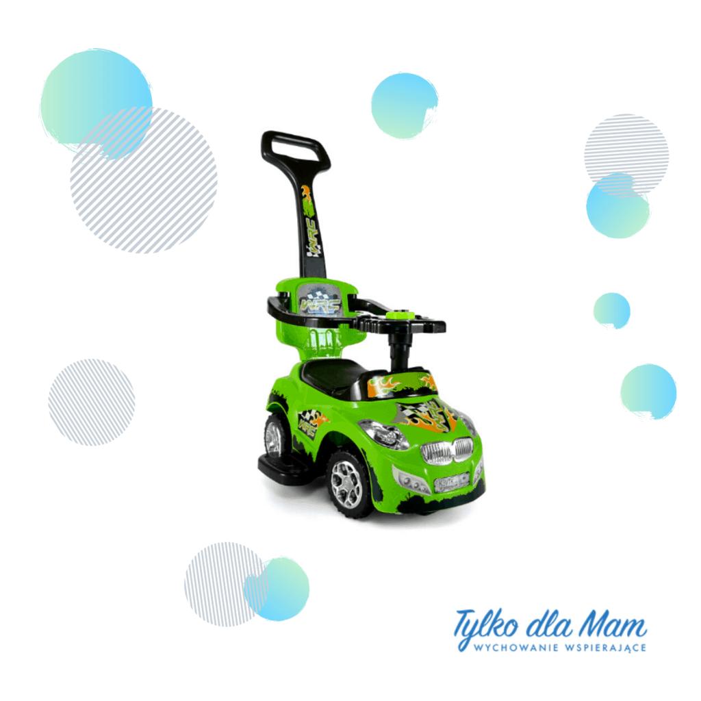 zabawki dla dzieci jeździk zielony