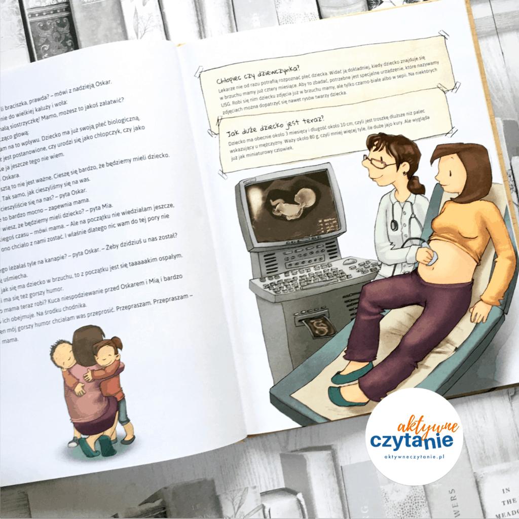 Dziecko wbrzuchu mamy ksiązki dla dzieci aktywne czytanie 1