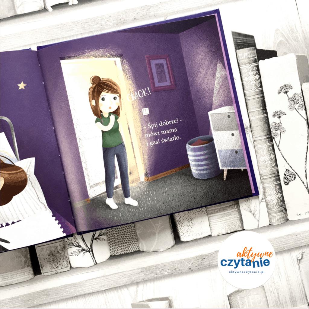 Jadzia Pętelka idzie spać ksiązki dla dzieci aktywne czytanie