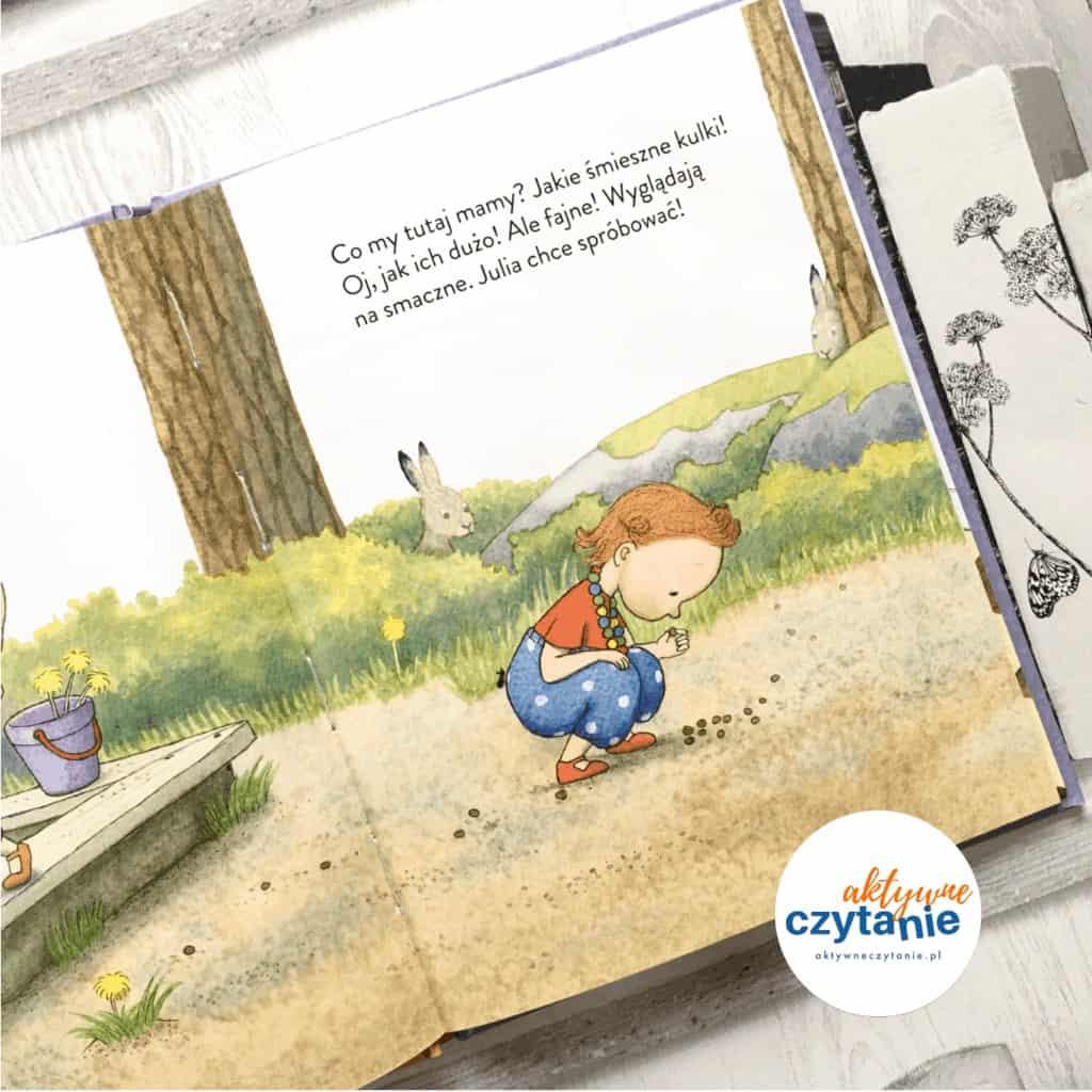 Julia jewszystko książki dla dzieci aktywne czytanie