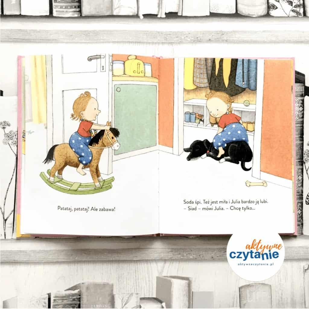 Julia siada Julia jewszystko książki dla dzieci aktywne czytanie 1