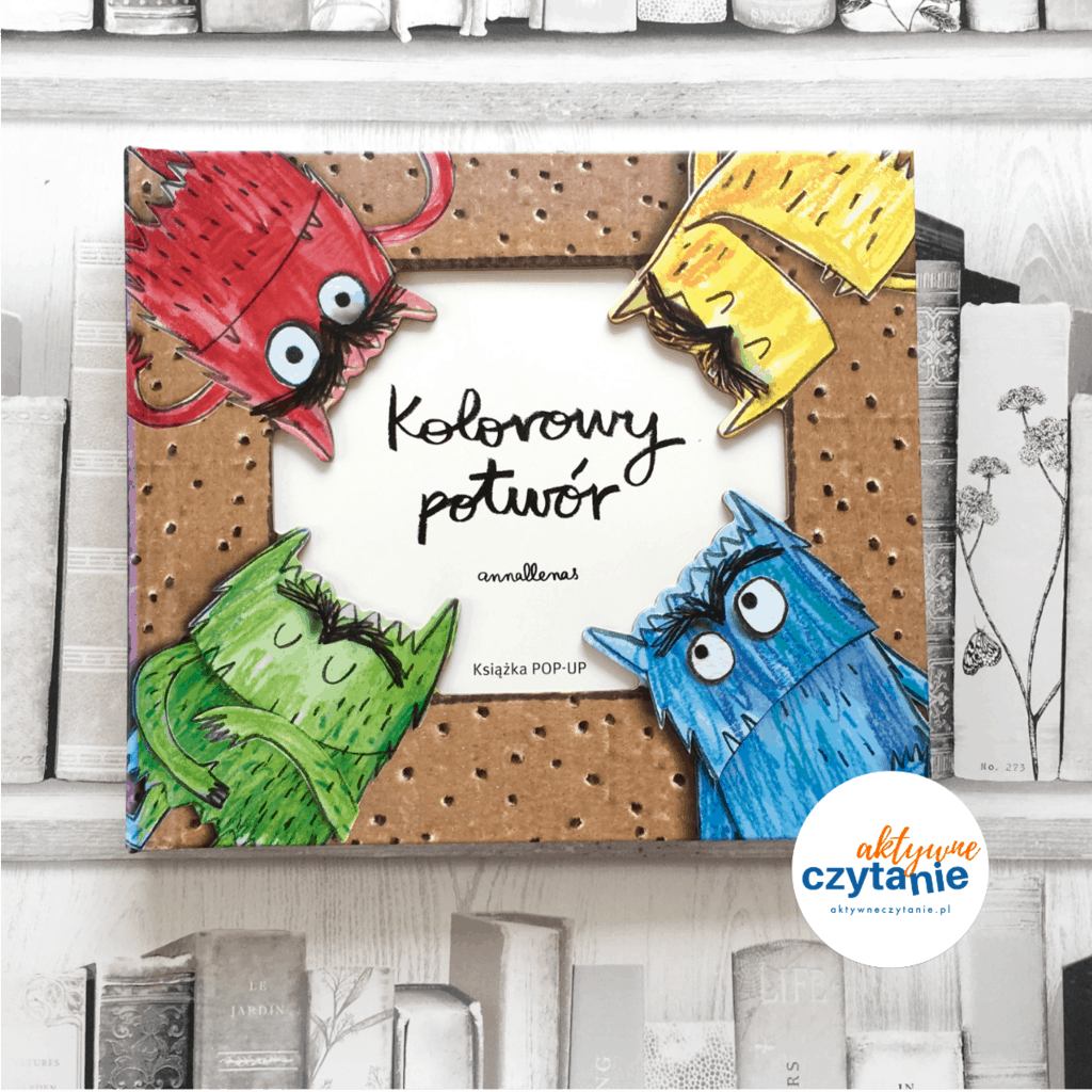 Kolorowy potwór pop up ksiązki dla dzieci aktywne czytanie