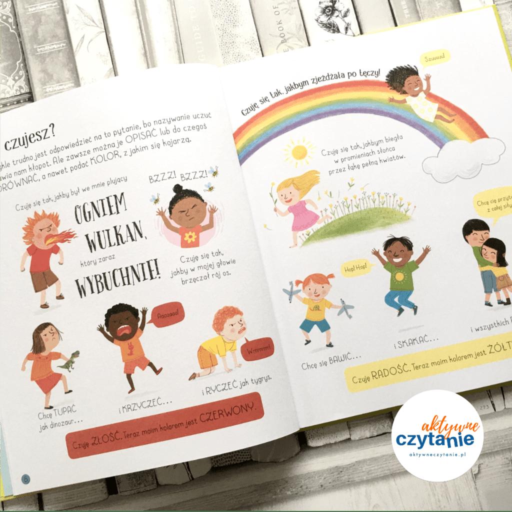 Wszystko oemocjach aktywne czytanie ksiązki dla dzieci