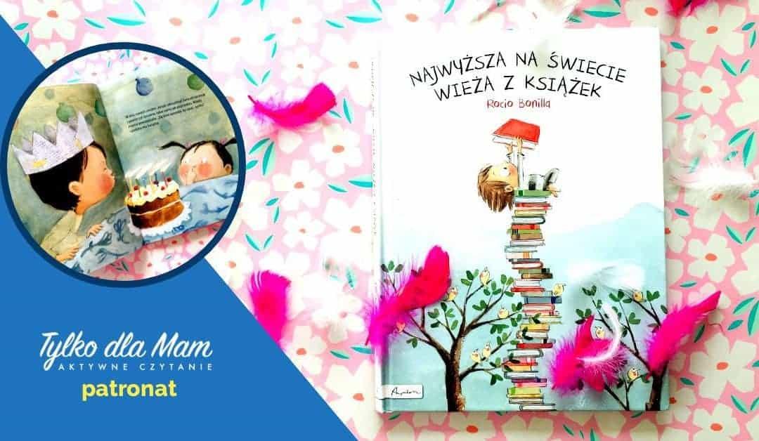Najwyższa naświecie wieża zksiążek aktywne czytanie książki dla dzieci