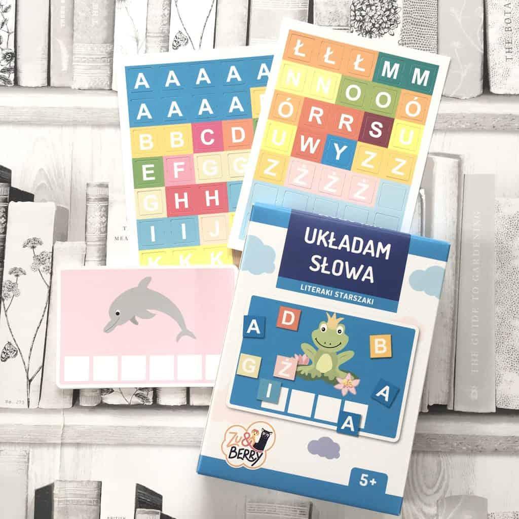 Układam słowa zestaw edukacyjny naulka liter ksiązki dla dzieci