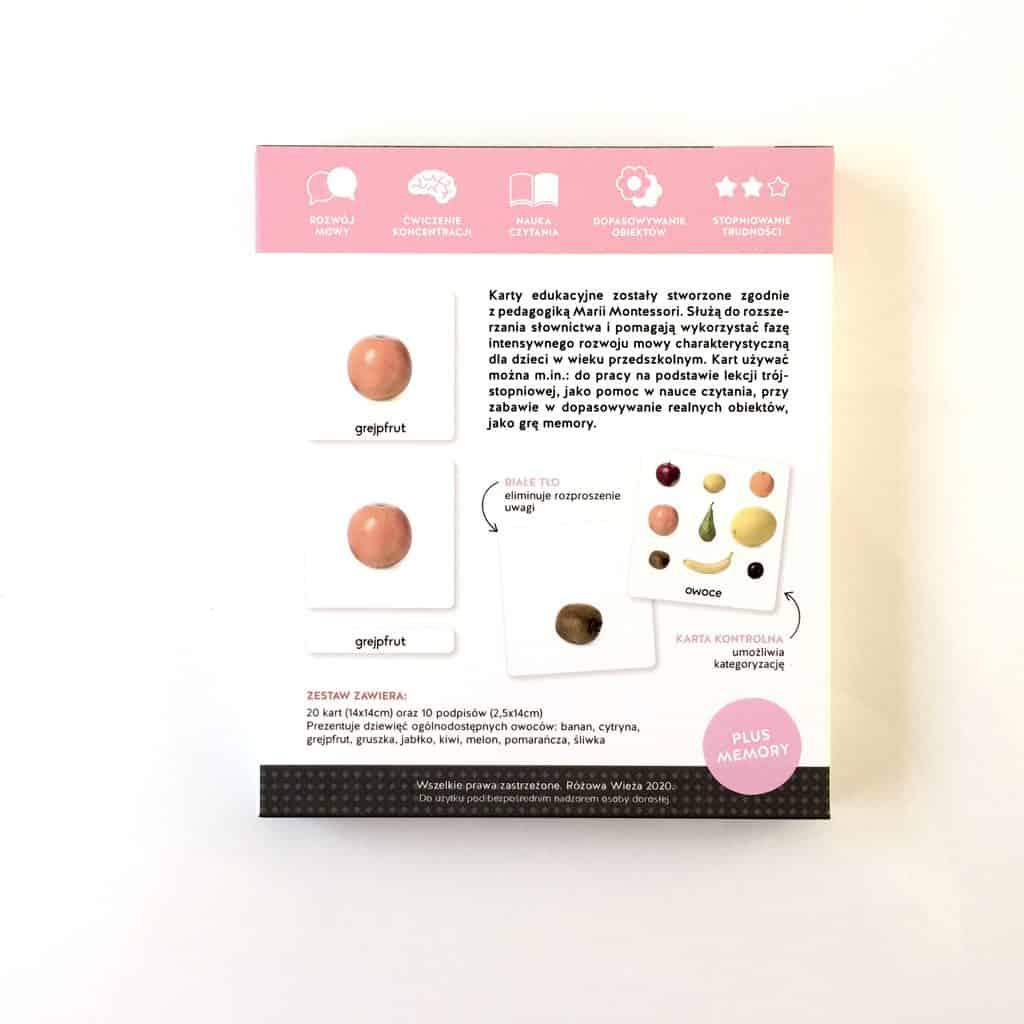 Karty edukacyjne Owoce