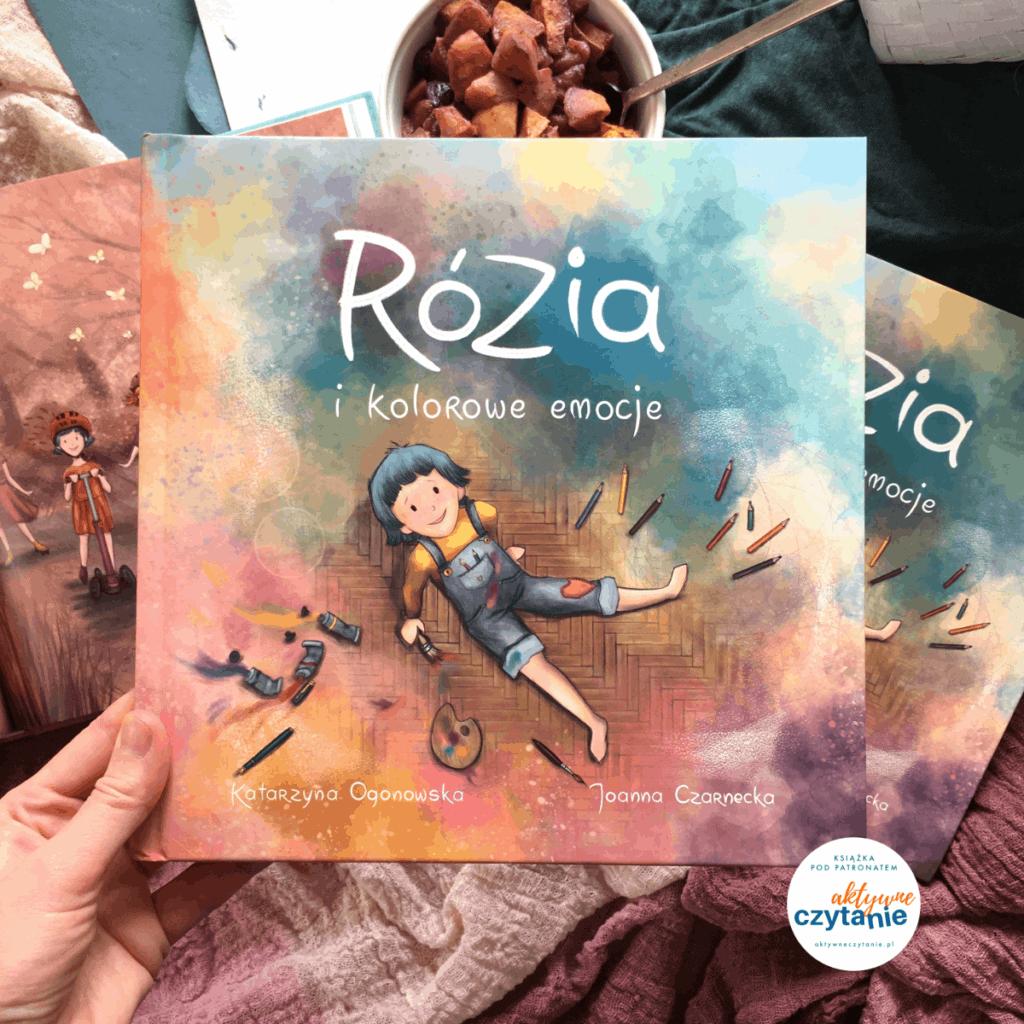 rozia-i-kolorowe-emocje-recenzja-ksiazki-dla-dzieci-aktywne-czytanie-patronat ksiazki oemocjach